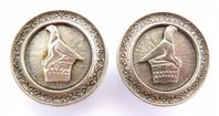 Vintage Large Egyptian Style Bird Clip On Earrings.